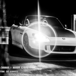 Stu's white carbon wrapped Honda S2000